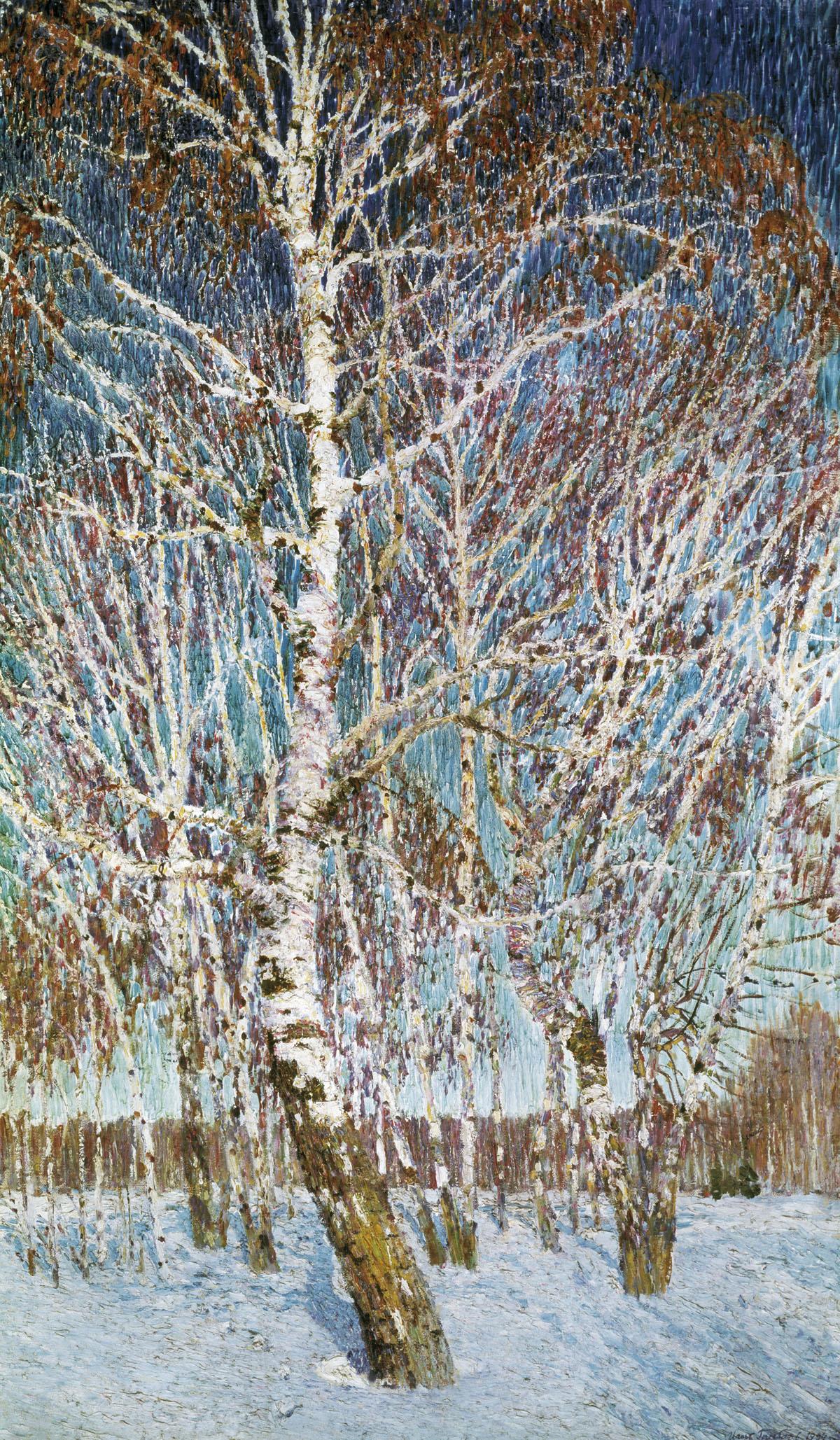сочинение пейзаж февральская лазурь