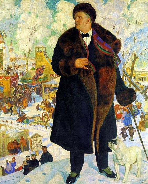 По картине кустодиева портрет