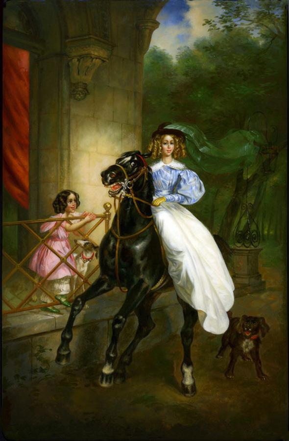 сочинение картине карла брюллова всадница
