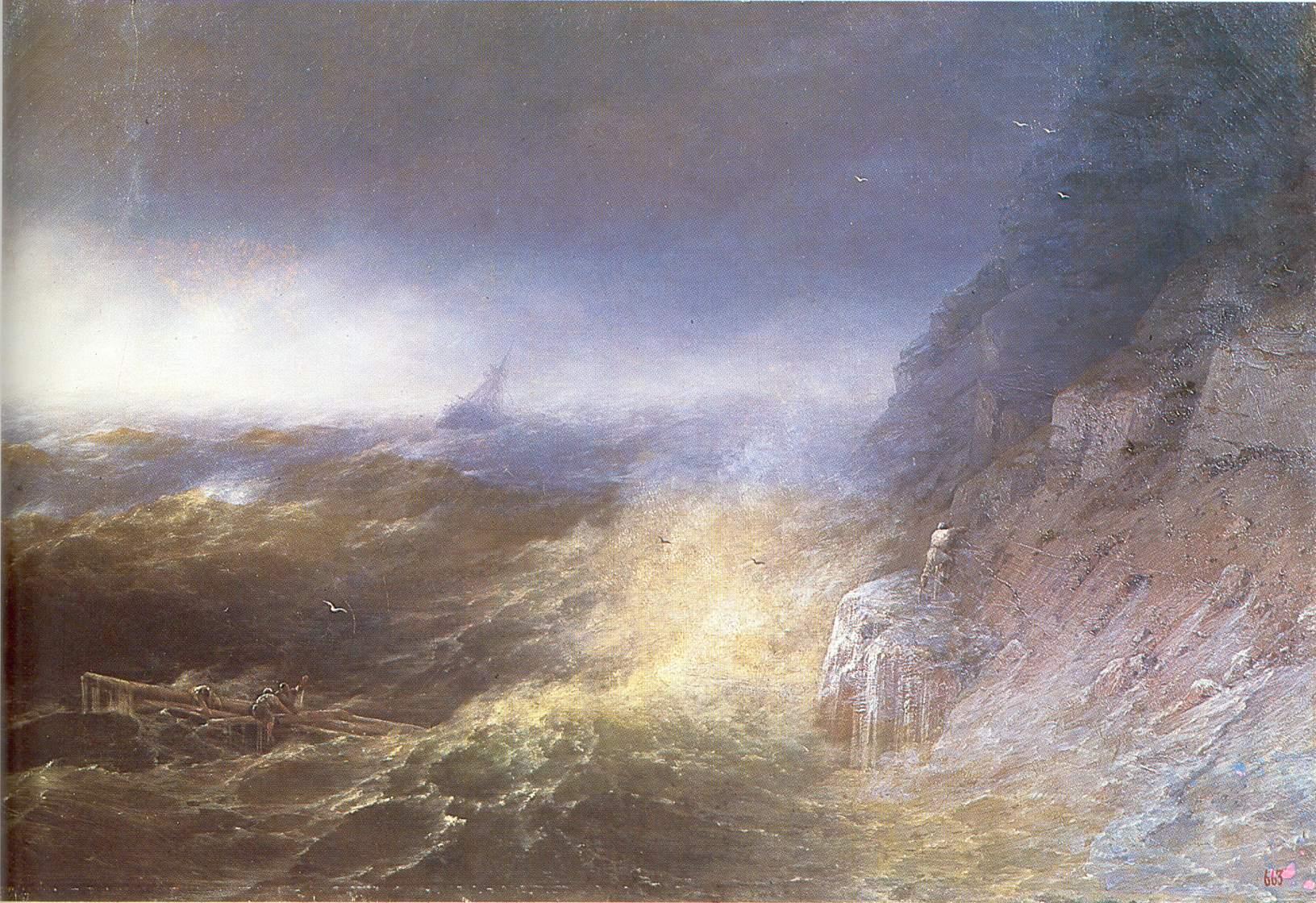 Сочинение по картине Айвазовского «Буря на Черном море».