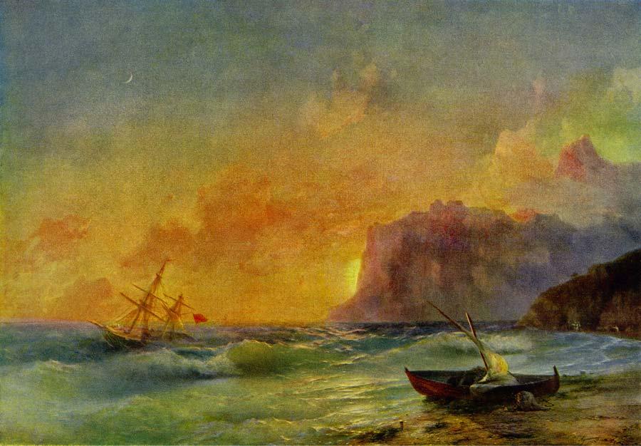 Сочинение по картине Айвазовского «Море. Коктебельская бухта».
