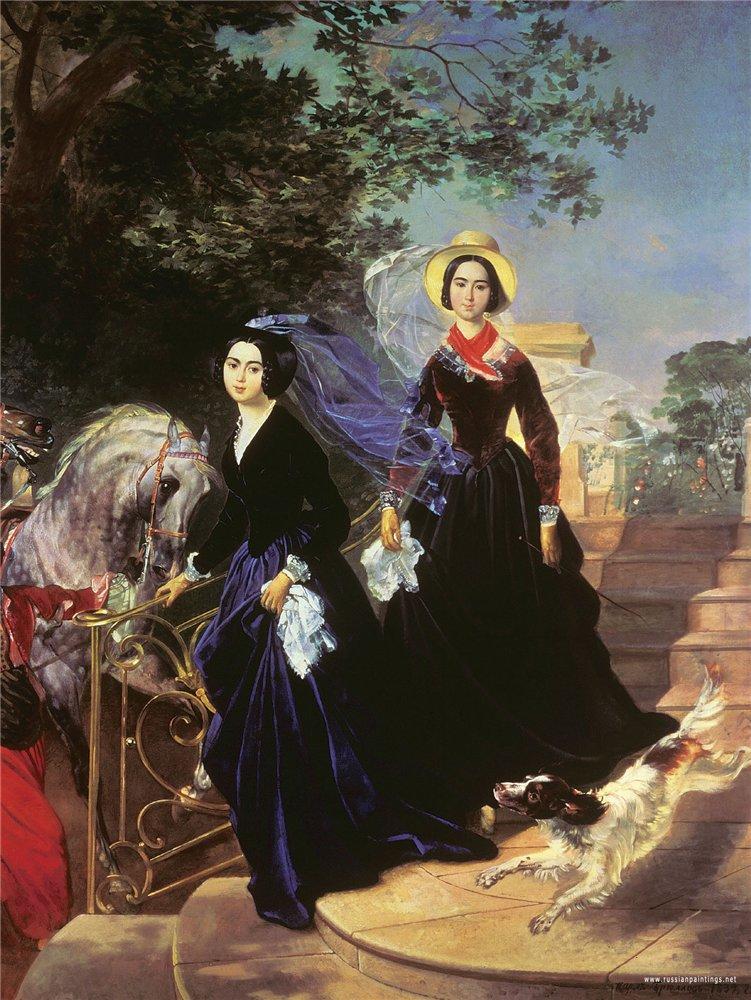 Сочинение по картине Брюллова «Портрет сестер Шишмаревых».