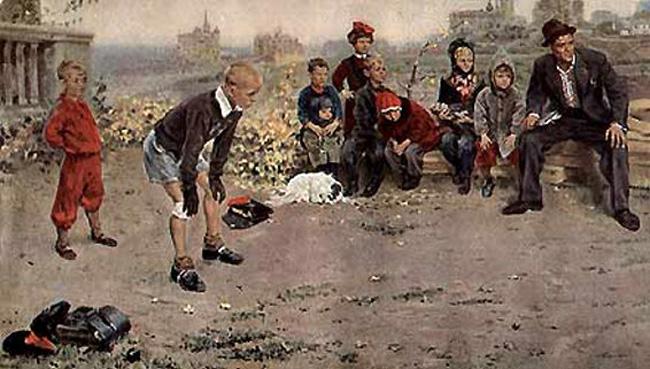 Сочинение по картине С. Григорьева «Вратарь» (от первого лица)
