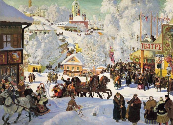 Сочинение по картине Кустодиева «Масленица»