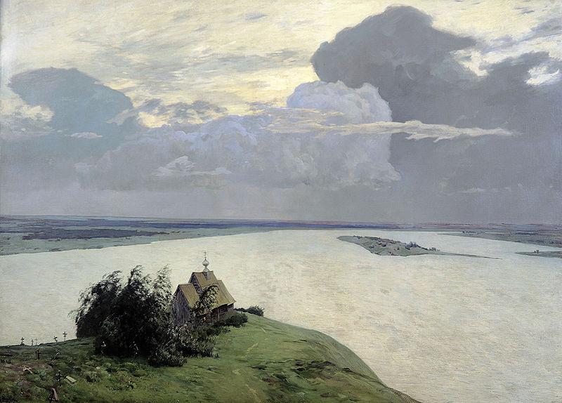 Сочинение по картине Левитана «Над вечным покоем».