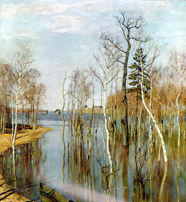 Сочинение по картине Левитана «Весна. Большая вода».