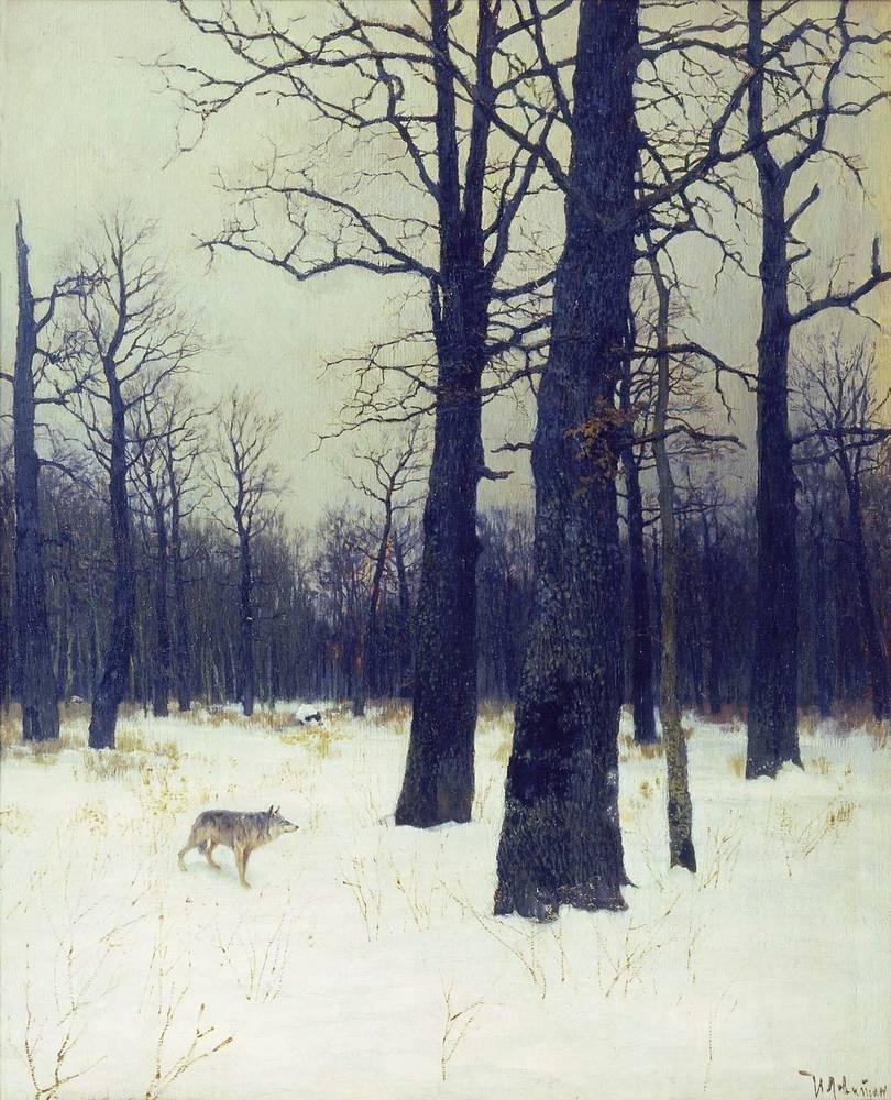 Сочинение по картине Левитана «Зимой в лесу».