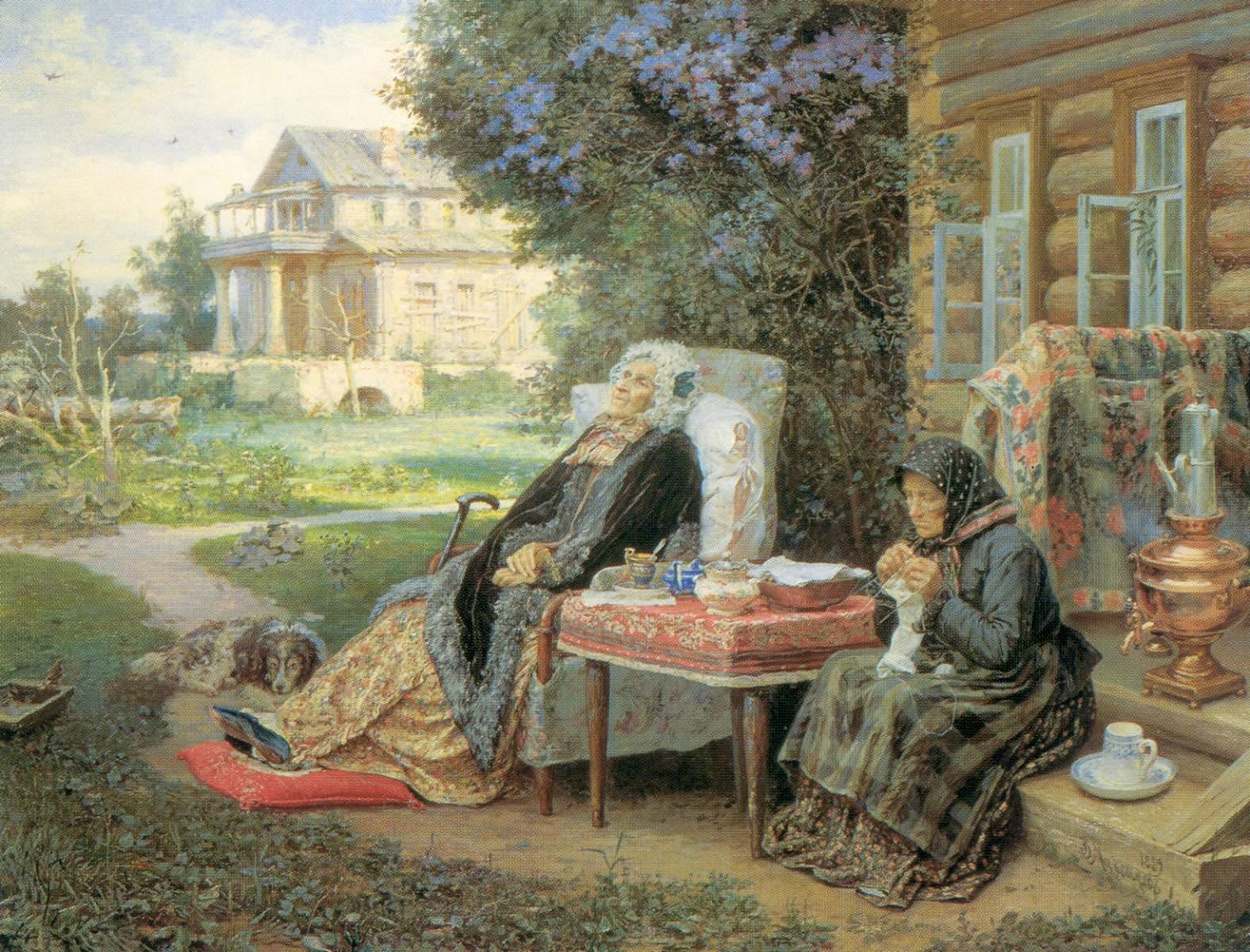 Сочинение по картине В. Максимова - Все в прошлом
