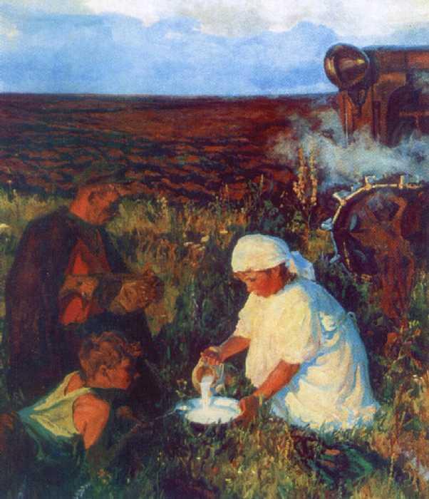 Сочинение по картине Пластова «Ужин трактористов» (2 вариант)