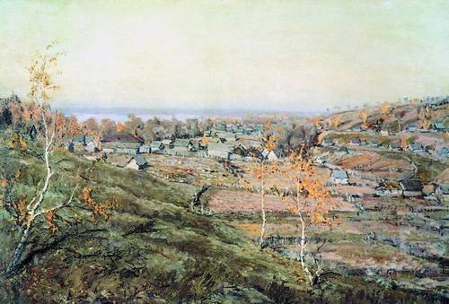 Сочинение по картине Ромадина «Село Хмелевка»