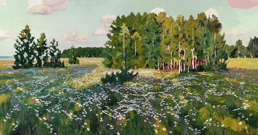Сочинение по картине Рылова «Цветистый луг».