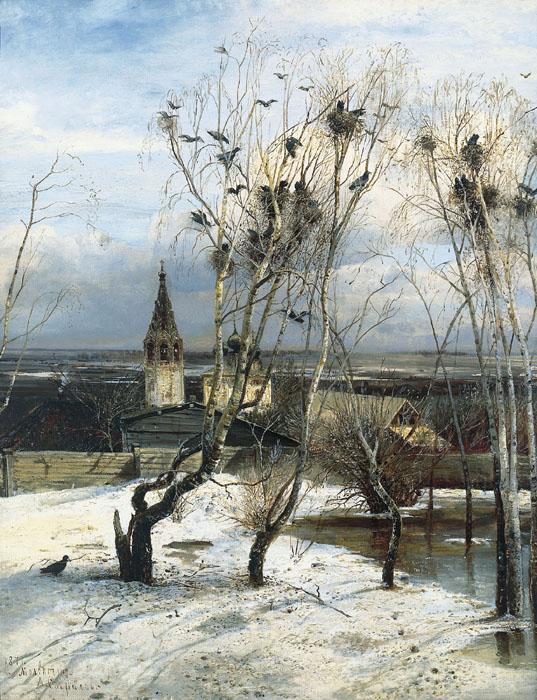 Сочинение по картине Саврасова «Грачи прилетели».