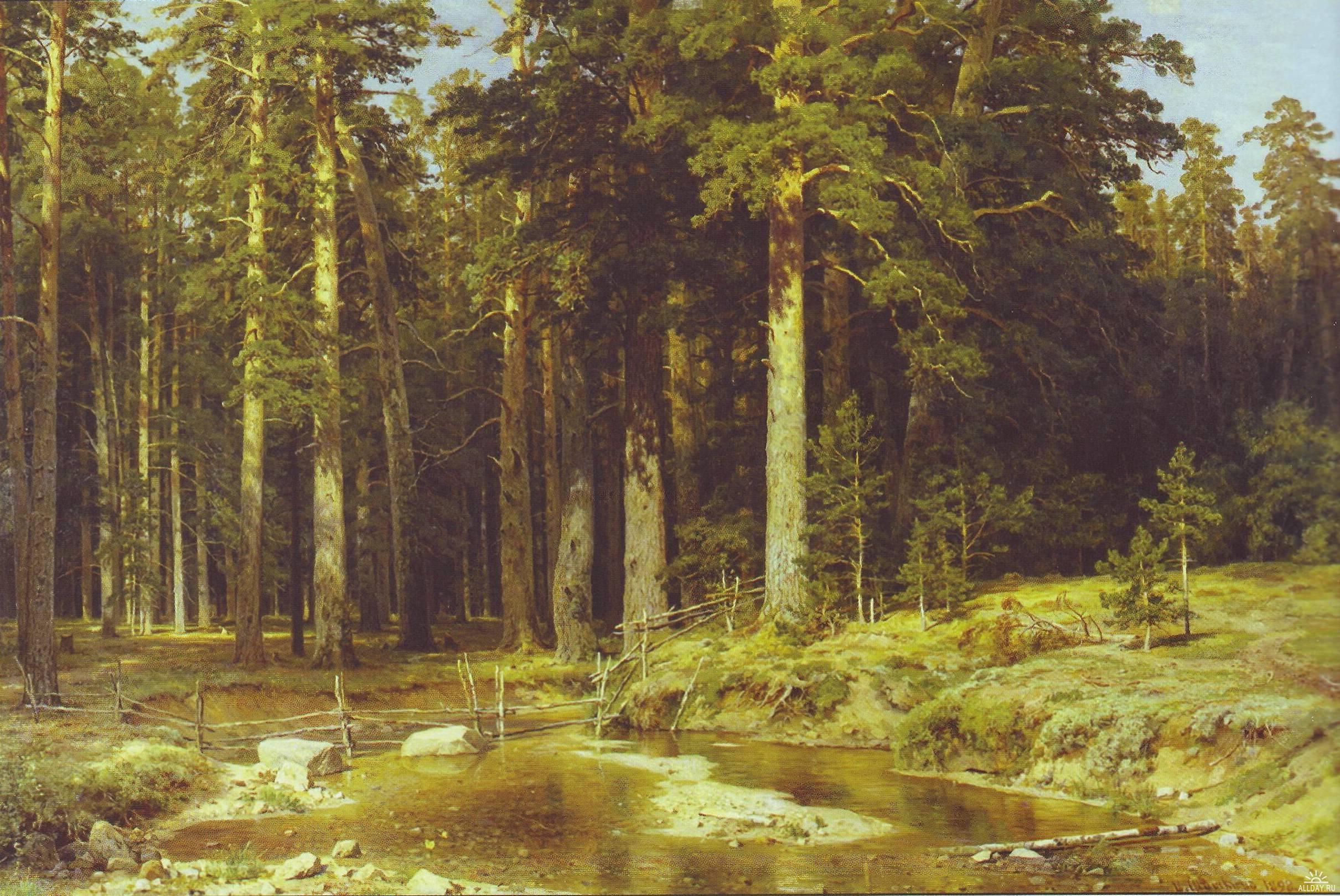 Сочинение по картине Шишкина «Корабельная роща».