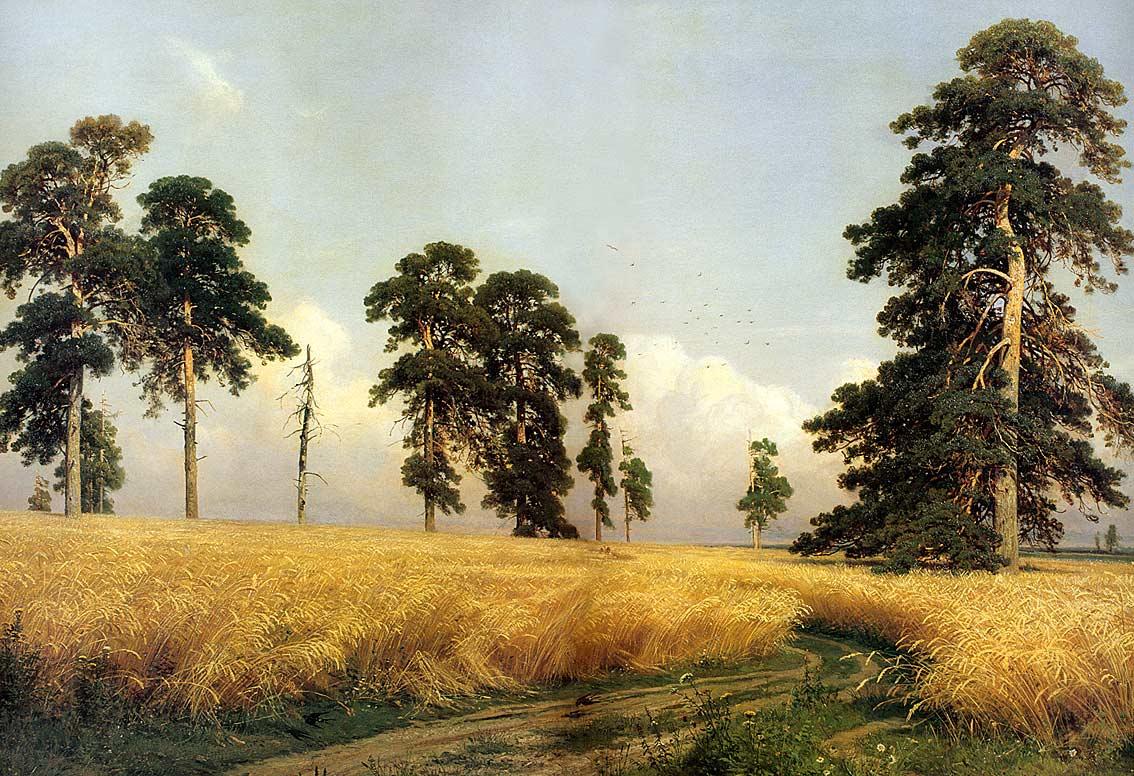 Сочинение по картине Шишкина «Рожь».