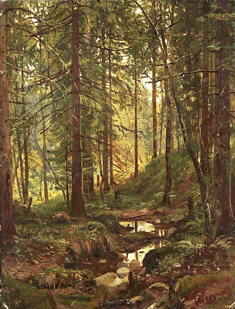 Сочинение по картине И.И. Шишкина «Ручей в лесу. Сиверская»
