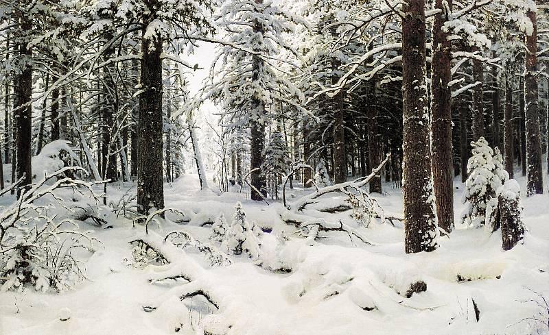 Сочинение по картине Шишкина «Зима».
