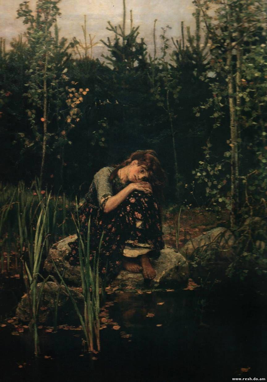 Сочинение по картине Васнецова «Алёнушка».