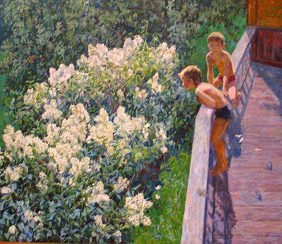 Сочинение по картине М.К. Копытцевой: «Летний день. Цветет сирень». (с планом) [2]