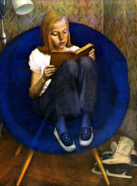 Сочинение по картине В.И.Хабарова «Портрет милы» (4 вариант)