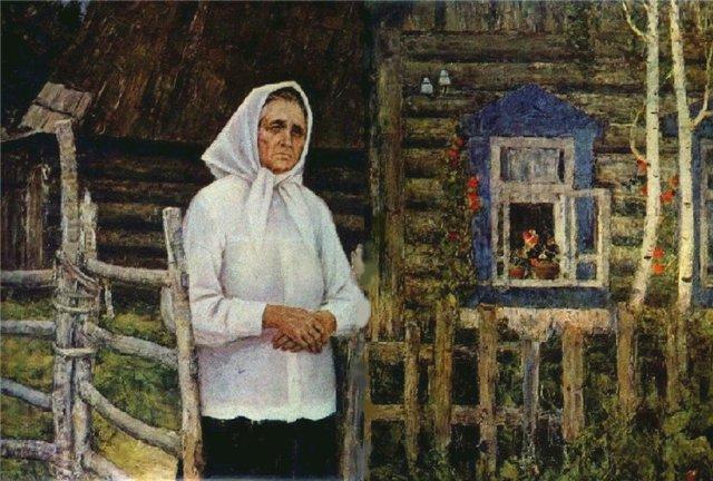 Сочинение по картине В. Игошева «Она все сына ждет»