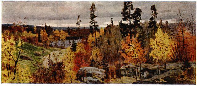 Сочинение по картине В.В. Мешкова: «Золотая осень в Карелии».