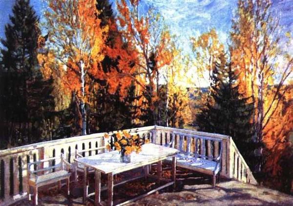 Сочинение по картине С.Ю. Жуковского «Осень. Веранда».