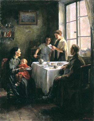 Сочинение по картине Нины Николаевны Ватолиной «Вести с фронта»