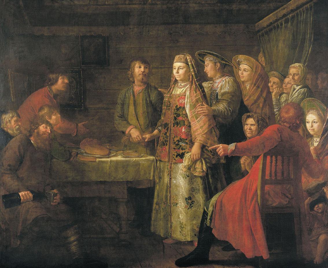 Сочинение по картине М. Шибанова «Празднество свадебного договора»