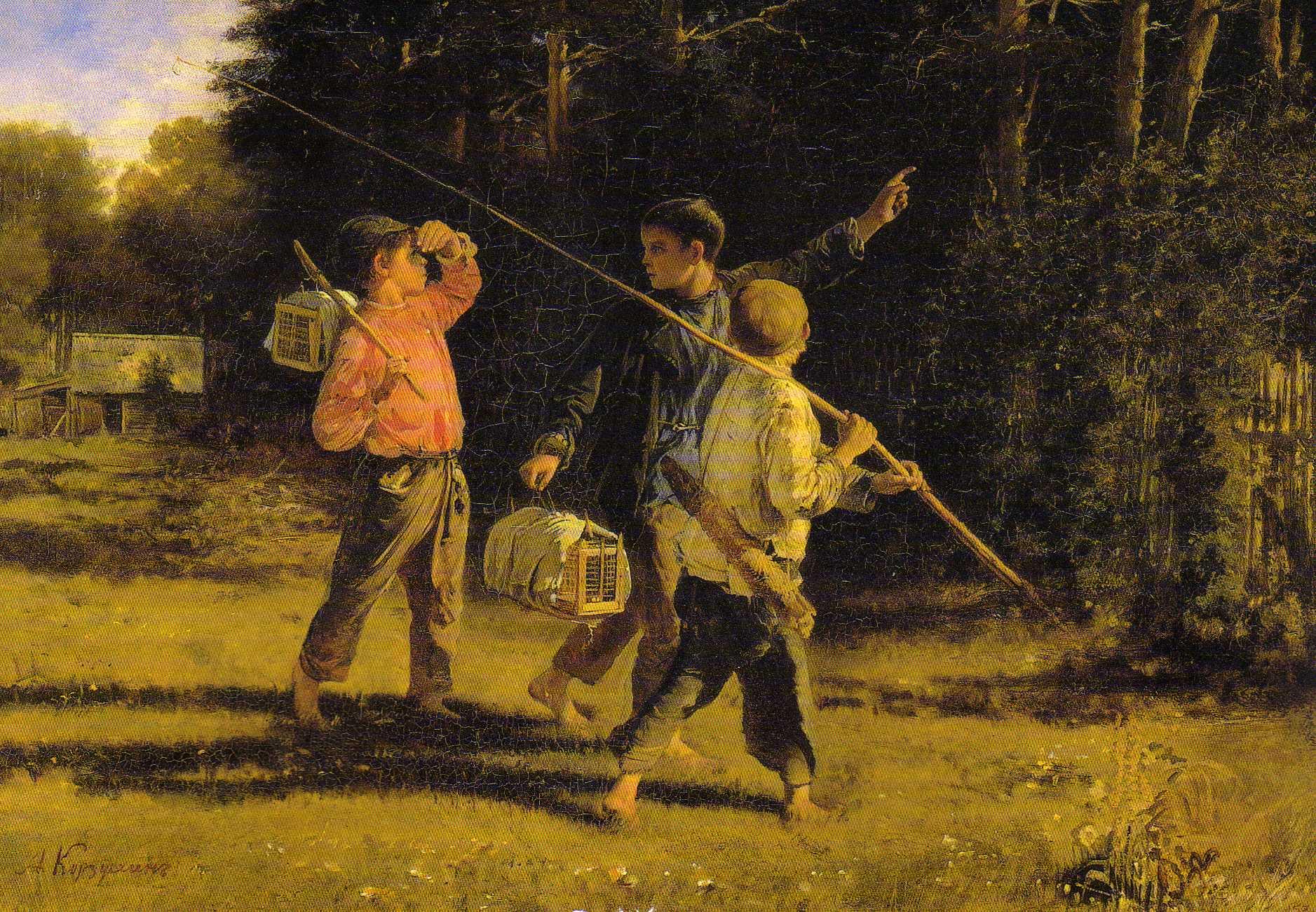 Сочинение по картине А.И.Корзухина «Птичьи враги» (с прямой речью для 6 класса - второй вариант сочинения)
