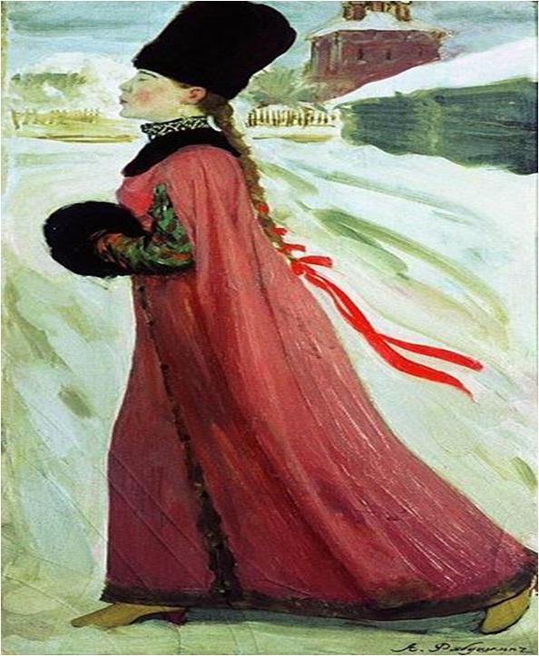 Сочинение по картине А.П. Рябушкина «Московская девушка XVII века»