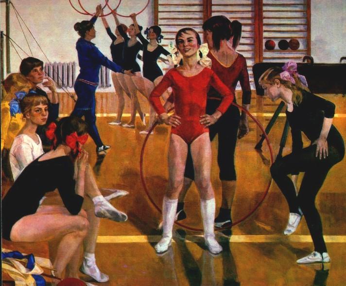 Сочинение по картине А.В. Сайкиной «Детская спортивная школа»