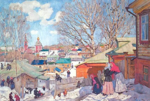 Сочинение по картине К.Ф. Юона «Весенний солнечный день»