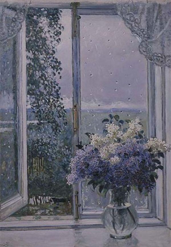 Сочинение по картине А.М. Герасимова «Полдень. Теплый дождь»