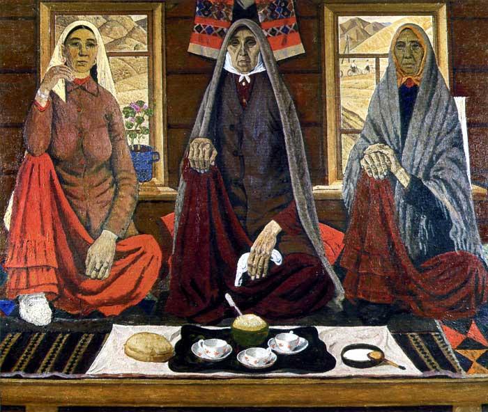 Сочинение по картине А. Лутфуллина «Три женщины»