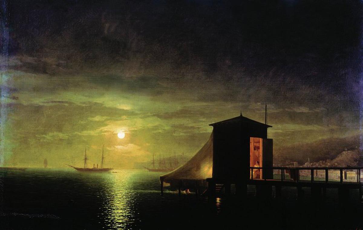 Сочинение по картине И.К. Айвазовского «Лунная ночь. Купальня в Феодосии»
