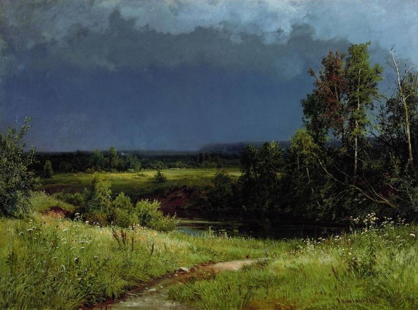 Сочинение по картине И.И. Шишкина «Перед грозой» (1 вариант)