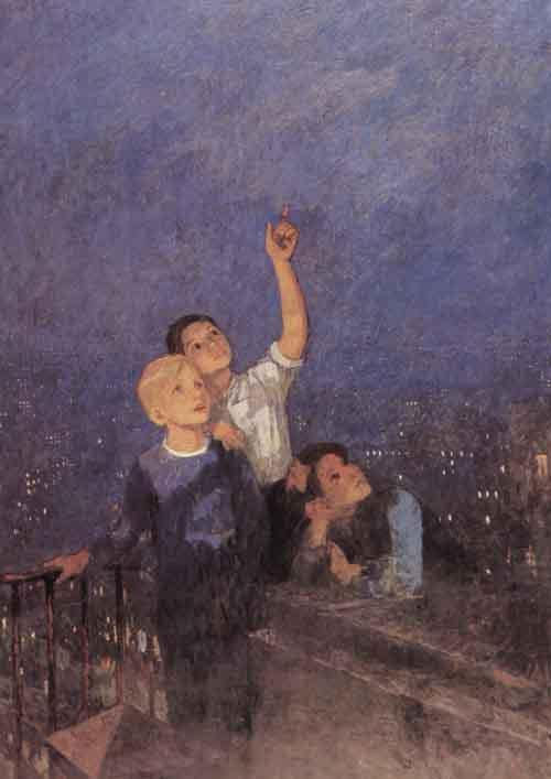 Сочинение по картине Ф.П. Решетникова «Мальчишки» (2 вариант)