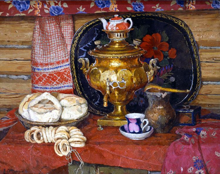 Сочинение по картине В.Ф. Стожарова «Чай с калачами»