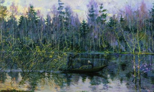 Сочинение по картине Н.Ромадина «Керженец»