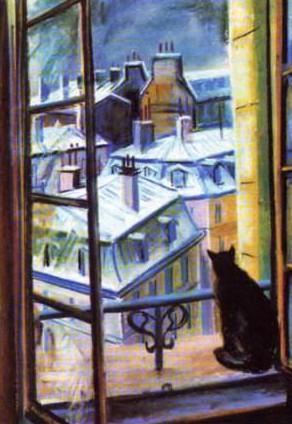Сочинение по картине Вилли Джеймса «Кот на окне»