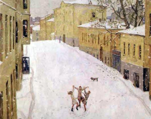 Сочинение по картине И. А. Попова «Первый снег» (2 вариант)