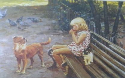 Сочинение по картине А. Семенова «Как прекрасен этот мир»