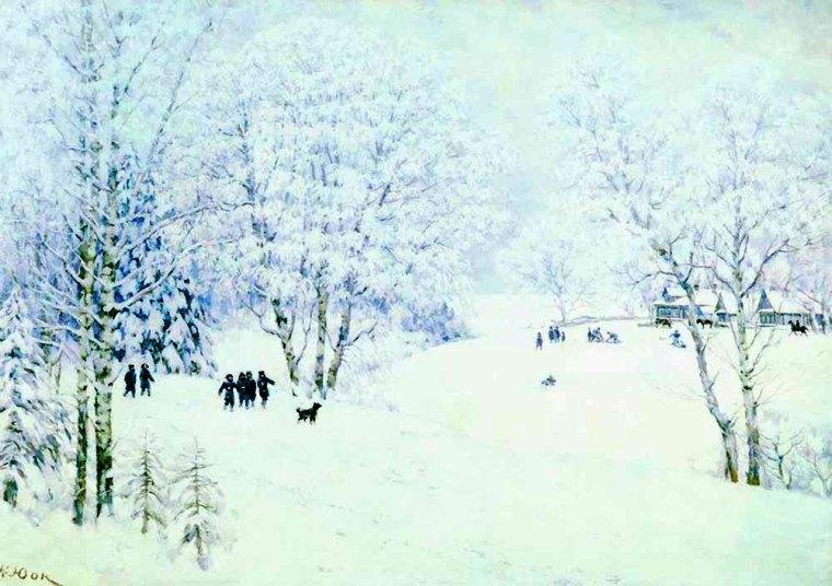Сочинение по картине К. Ф. Юона «Русская зима. Лигачево»