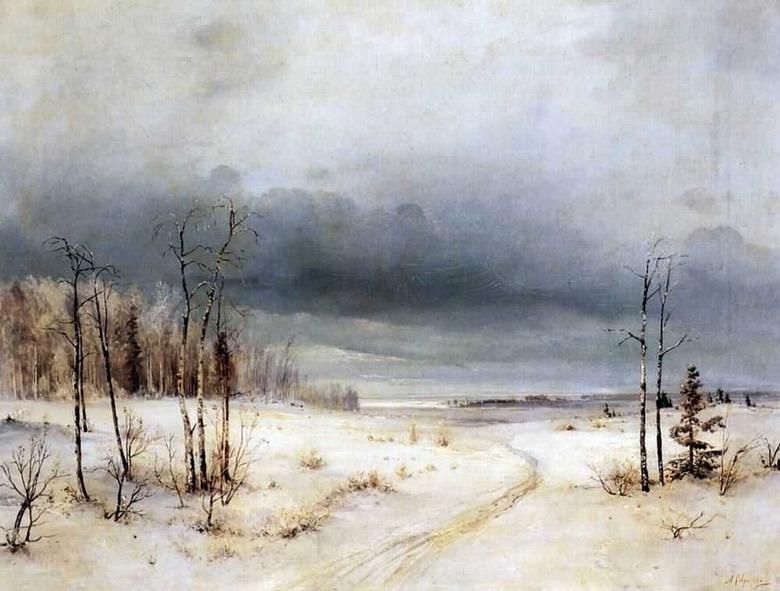 Сочинение по картине А. К. Саврасова «Зима»