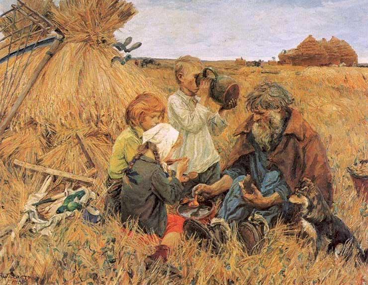 Сочинение по картине А. Пластова «Жатва»